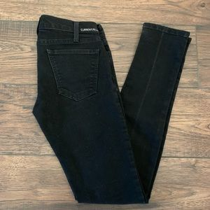 Current Elliot Black Skinny Jeans 25 0
